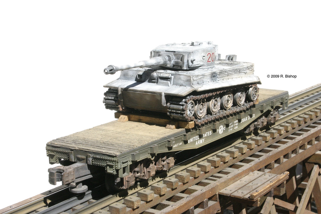 Brand new Tiger tanks being transported on rail cars on ...  Wwii Train Car