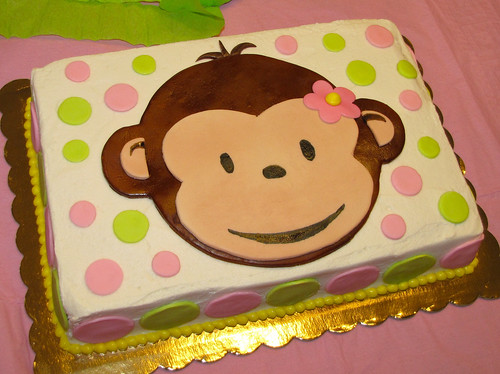 Cute Monkey Birthday Cakes