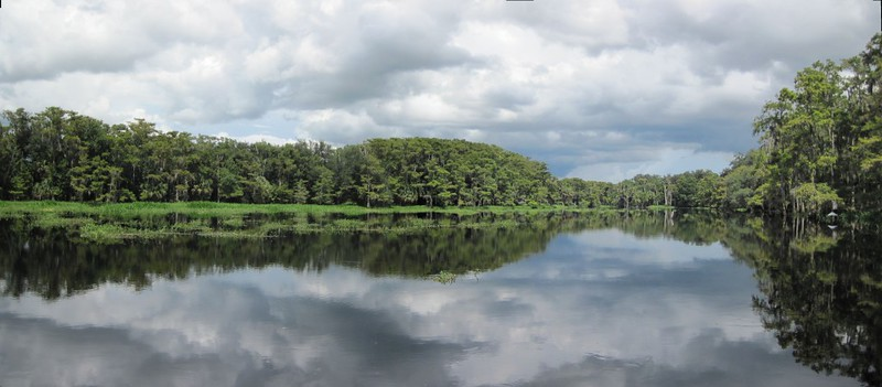 Panorama shot of Picnic Lake on Fisheating Creek