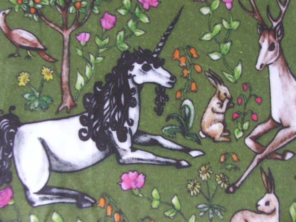 unicorn medieval printed fabric i m so so so so excited flickr