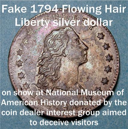 Fake 1794 Flowing Hair Liberty Silver Dollar Obverse