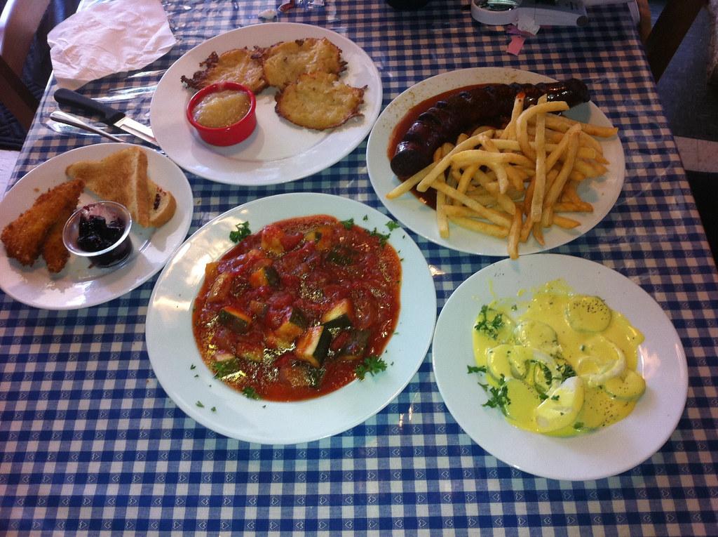 German Lunch Nuremberg Brauhaus Potato Pancakes W