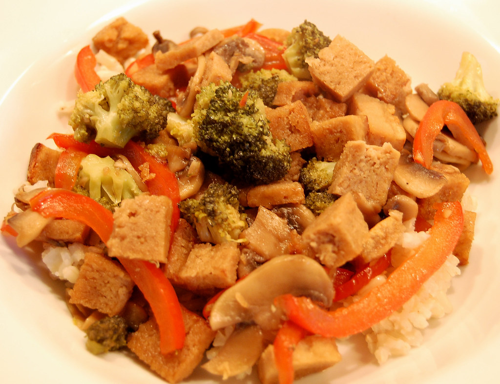 Stir-Fried Broccoli, Mushrooms, & Peppers with Caramelized… | Flickr