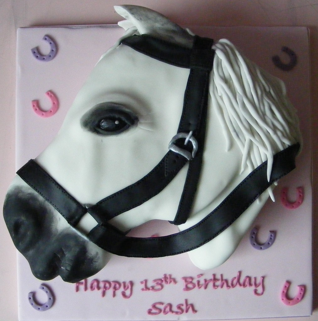 Horse Head cake This was for a horse mad teenager Im ver Flickr