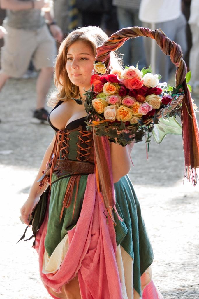 Flower Girl  Maryland Renaissance Festival 2010  The Q