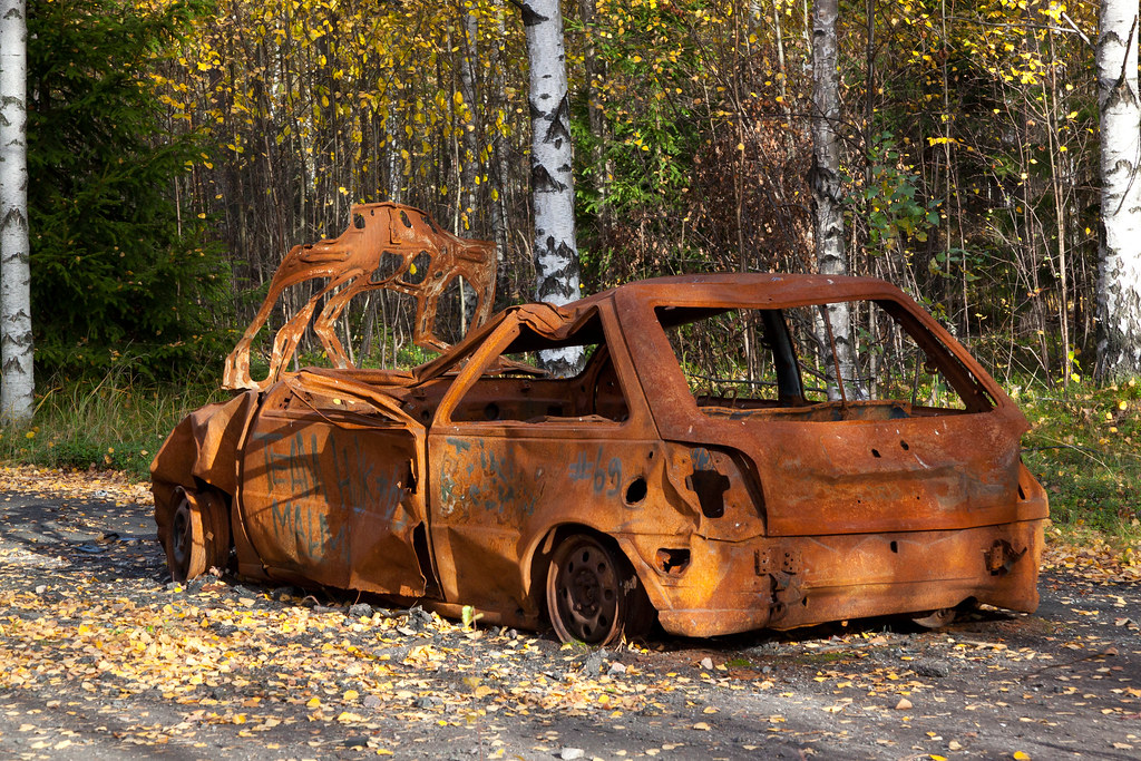 Rusting Car Golf Fiat 127 What Else It Could Be Jv