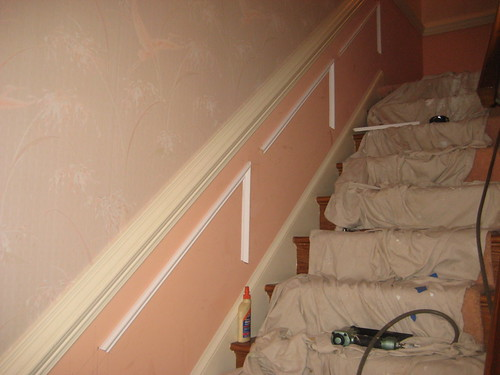 wainscot on stairs | www.thefinishingcompany.net we are ...