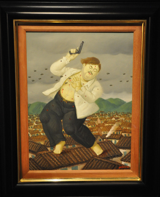 """Muerte de Pablo Escobar"" (Death of Pablo Escobar) by Botero (1999)"