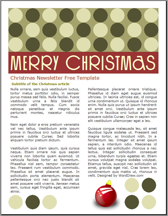 free christmas newsletter template download this free chri flickr