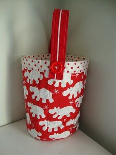 Red Hippo Craft Bag | by Scissors & Thread
