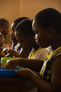 Eating a meal at school | by World Bank Photo Collection