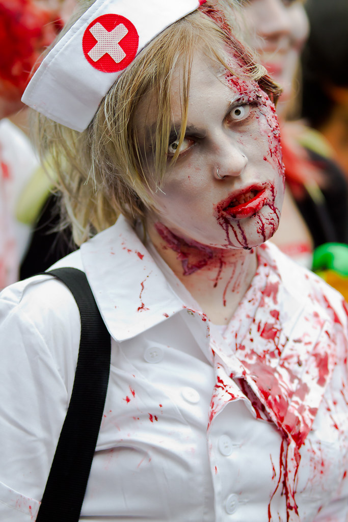 Another Sexy Zombie Nurse From The Toronto Zombie Walk 201 -5352