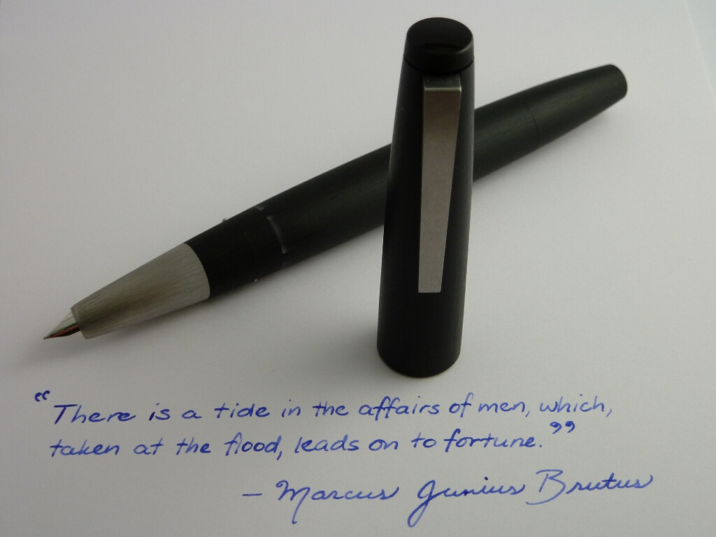 Lamy 2000 Fountain Pen Ef Nib Writing Sample Limatha