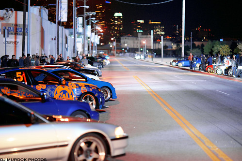 Lined Up For The Street Racing Scene On The Set For