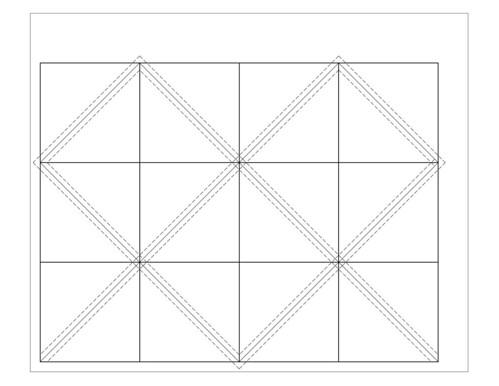 Half Square Triangle Fat Quarter Template Blogged Www