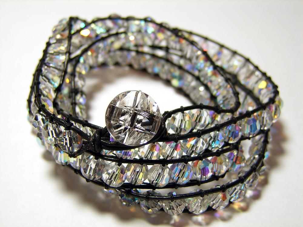 crystal wrap bracelet 32 5 wrap style bracelet. Black Bedroom Furniture Sets. Home Design Ideas