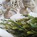 vintage tarnished silver candlesticks+thanksgiving tabletop