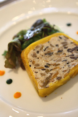mushroom and fish terrine | by David Lebovitz