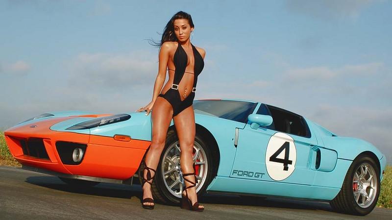 ford gt40 gulf sexy girl bikini super hot girl in bikini w
