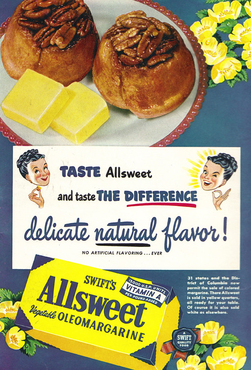 vintage ad  1 254  delicate natural flavour from oleomarga