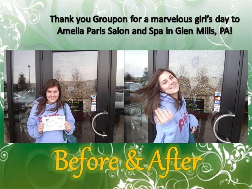Spa day thanks groupon attached is a picture of me for Abaka salon groupon