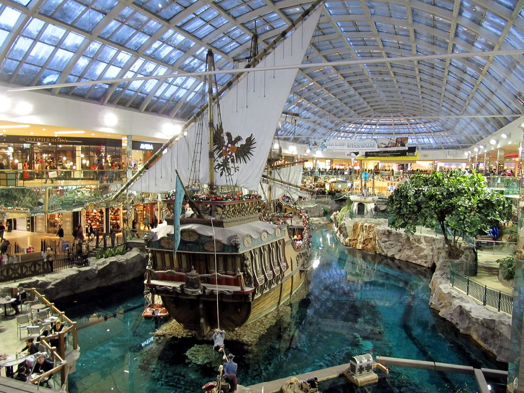 Replica Of Santa Maria At Indoor Lake West Edmonton Mall