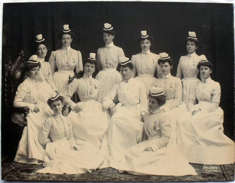 Canadian Training School For Nurses Graduates Late 1800 S
