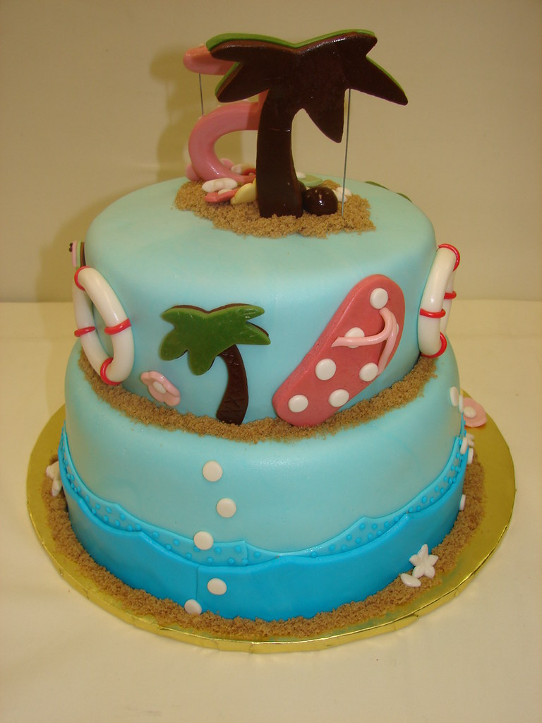 Pool Party Birthday Cake Pool Party Birthday Cake Fun Fu Flickr