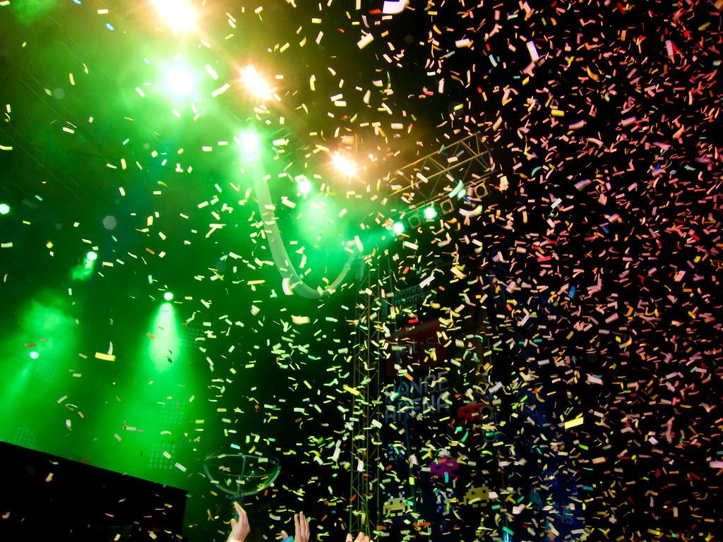 Confetti at the EXIT f...