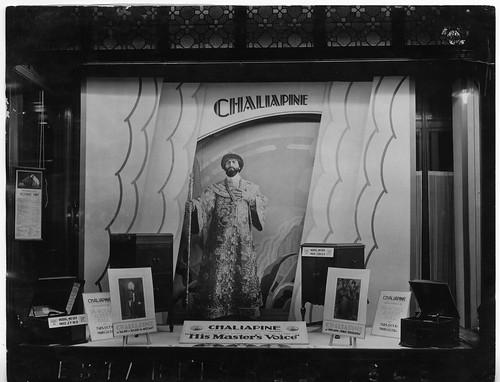 hmv 363 Oxford Street, Loneon - Chaiapine window display 1920s