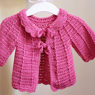 Candy Pink Baby Cardigan | by mon petit violon