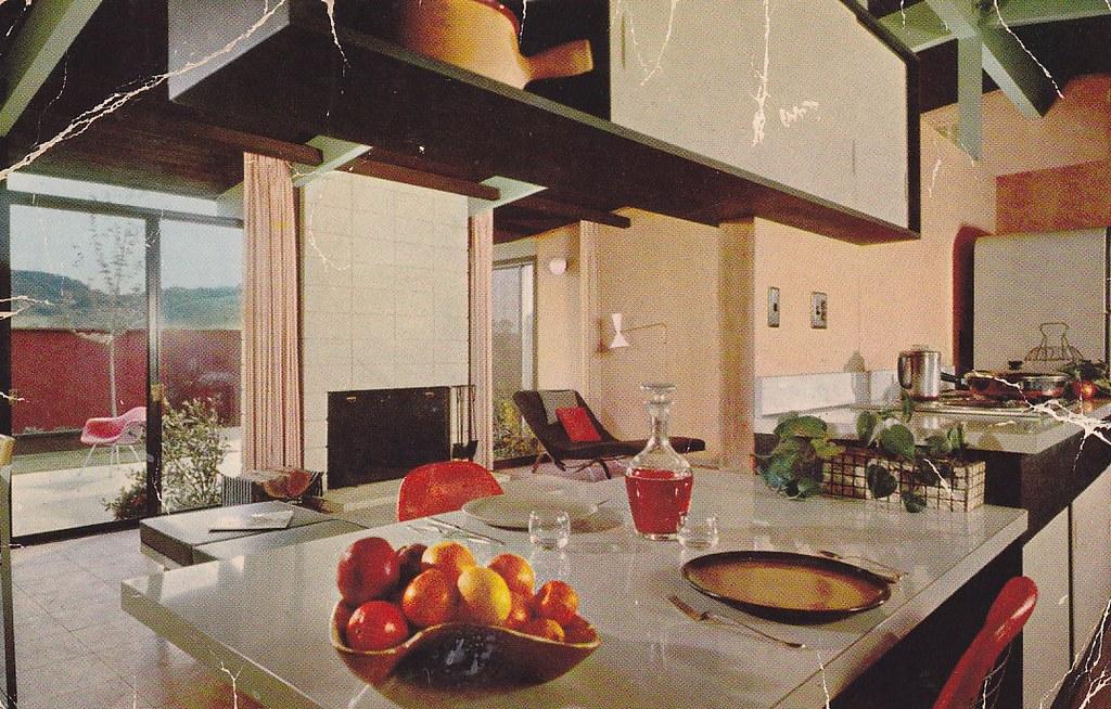 EICHLER HOMES Terra Linda promotional postcard - interior ...