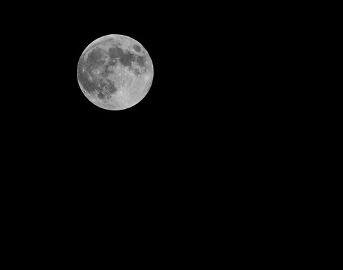 Full Moon Shot In Black and White 07252010 | by btn1131 theromanroad.org
