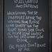 Chalkboard at Hog's Head Inn