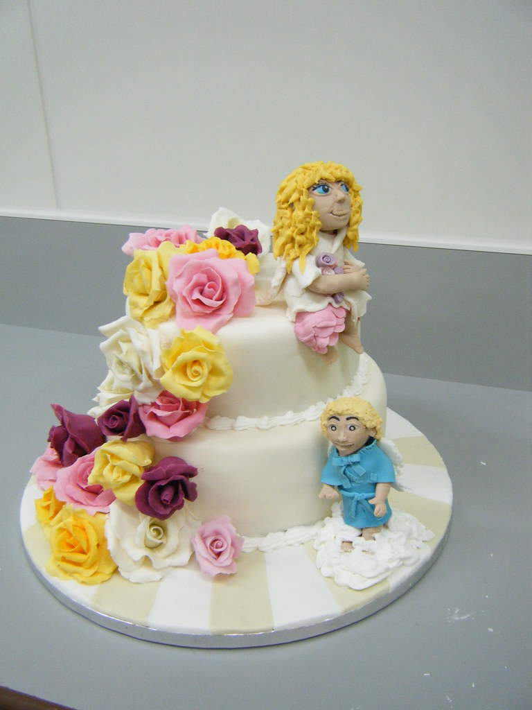 70th Birthday cake Angels Chocolate Fudge cake with Rasp Flickr