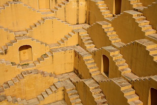 The yellow stairs of a well in a village near Amber Fort, Rajasthan, India | by fabriziogiordano23