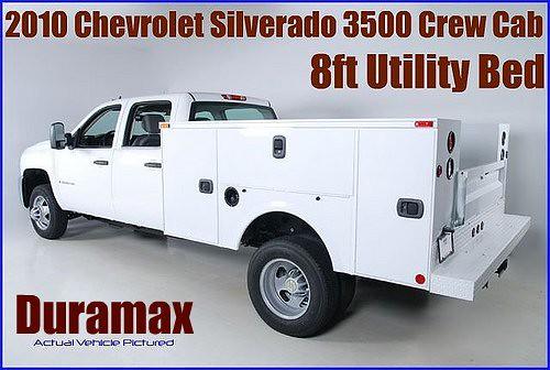 2010 Chevrolet Silverado 3500 Crew Cab Utility Bed Duramax