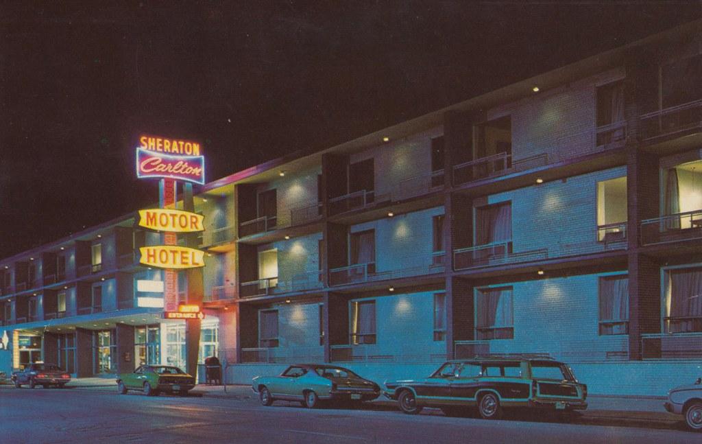 The cardboard america motel archive sheraton carlton for Motor inn near me