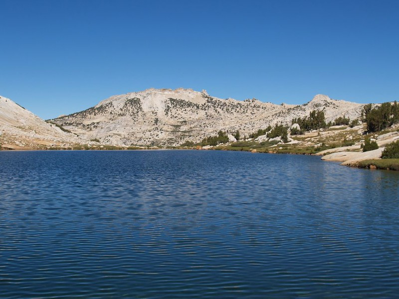 View north from Townsley Lake to Peak 11357 and Rafferty Peak