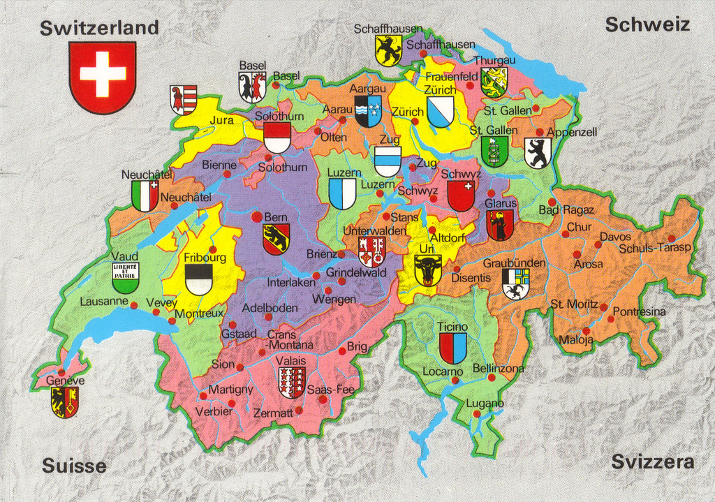 Switzerland Map Postcard   Show The Card You Offer Tag #3 fr…   Flickr