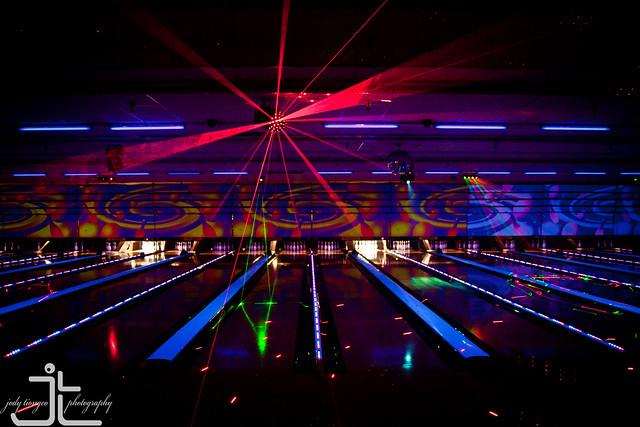 cosmic bowling video