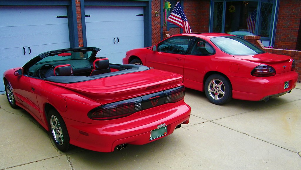 1995 pontiac firebird trans am convertible and 1998 grand. Black Bedroom Furniture Sets. Home Design Ideas