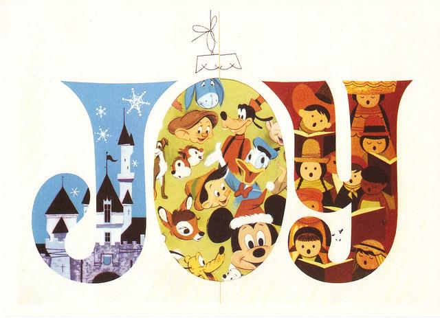 Disney JOY Christmas Postcard   The Walt Disney Company ...