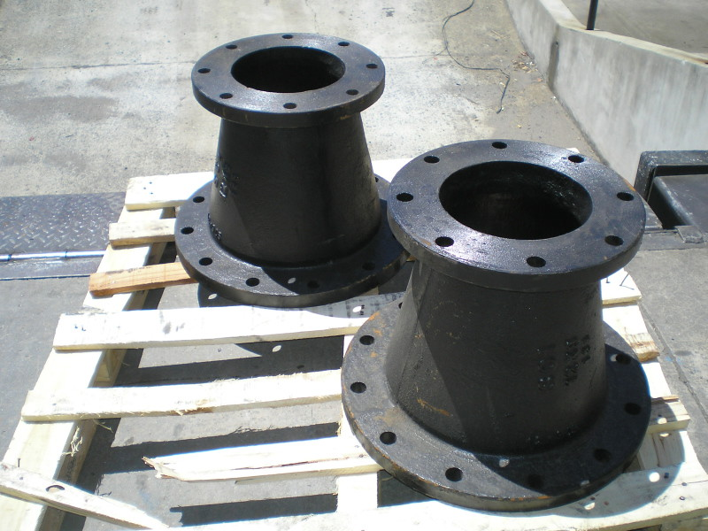 Flange to adapters large diameter hose