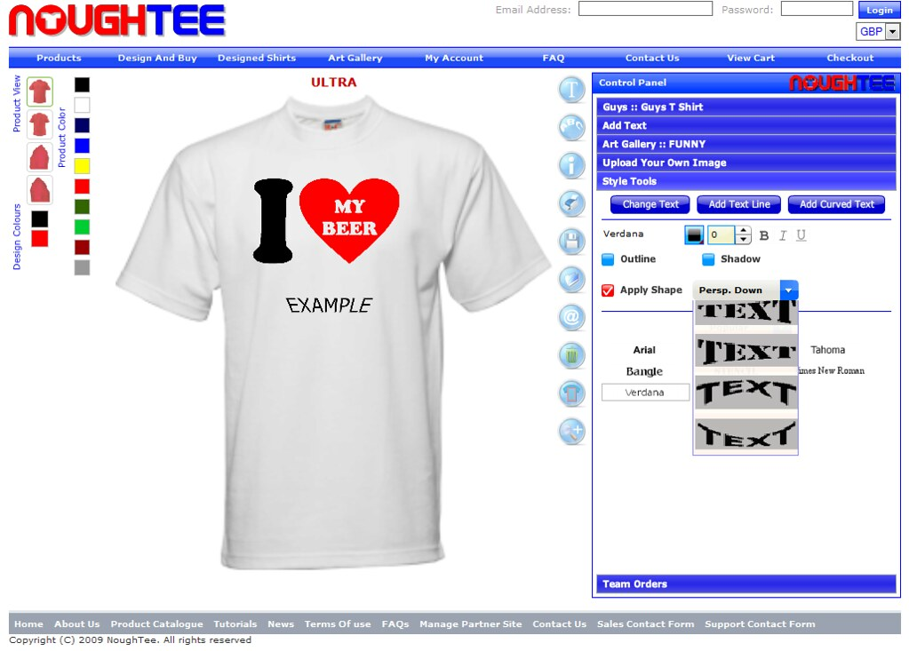 T Shirt Maker And Custom Application Tool Creator Or T Sh
