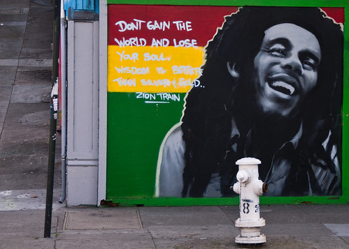 Bob marley mural haight street san francisco tony for Bob marley mural san francisco