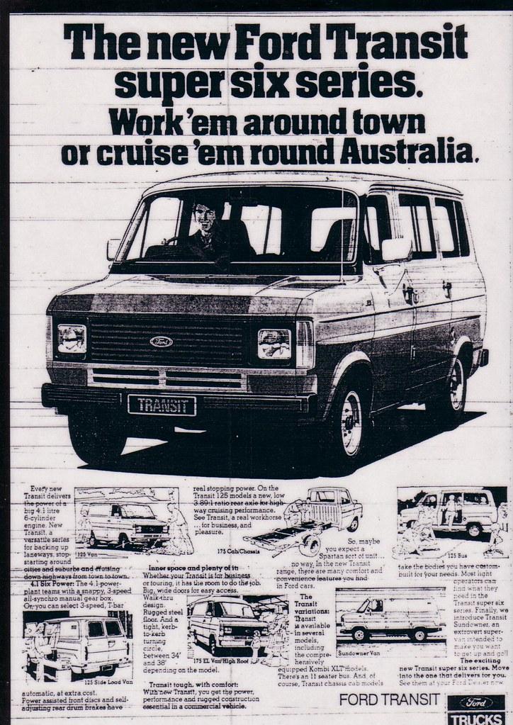 1980 ford transit mk2 van ad