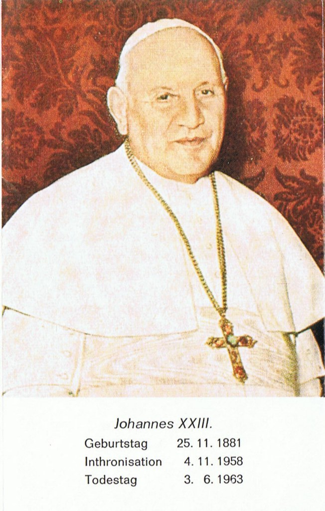 Totenzettel Papst Johannes XXIII † 03.06.1963