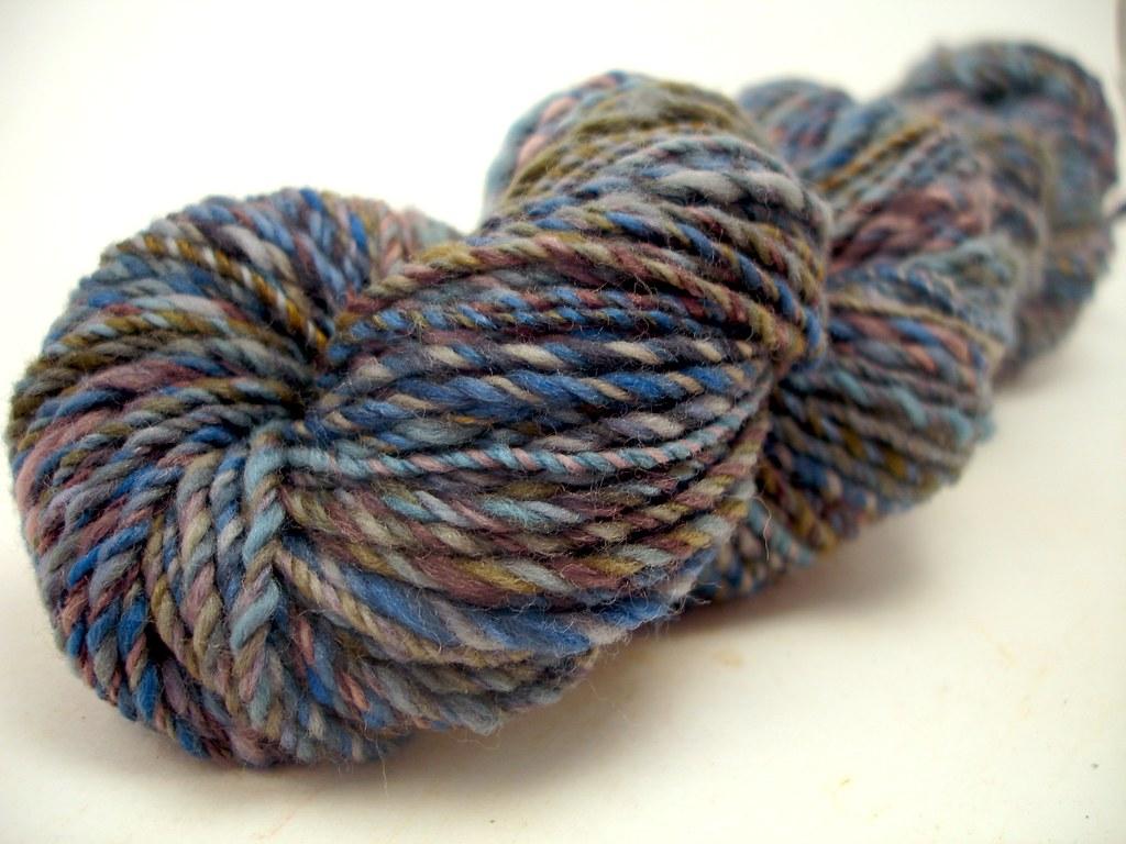 Koigu fibre all spun up 3-ply, approx. sport-weight yarn. Flickr