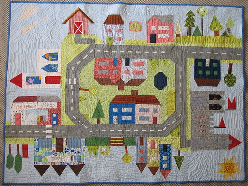 All Around the Town Quilt | Blogged here: gershamabob